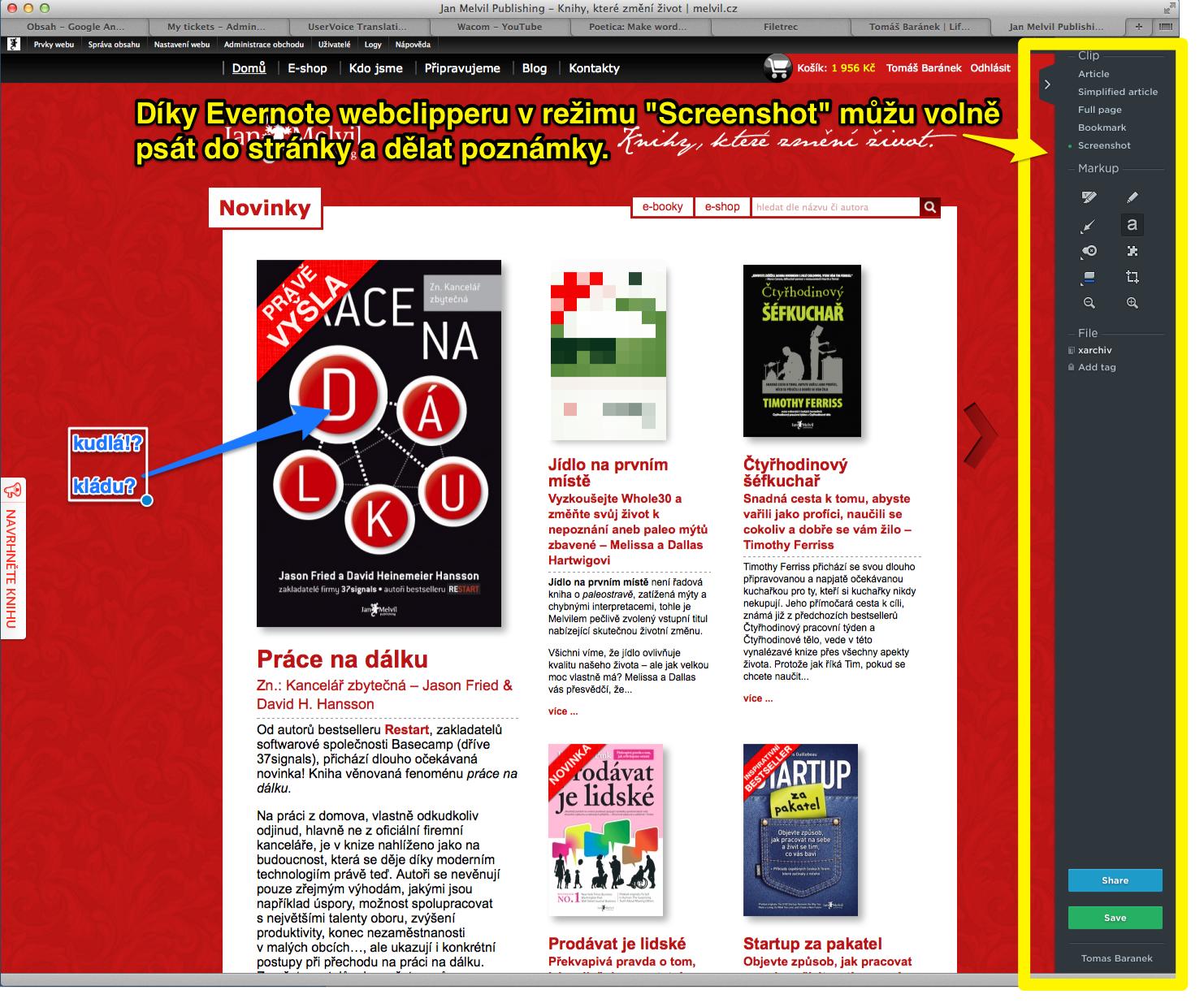 Tipy a triky pro Evernote – webclipper a emailový sběr – kapitola 2